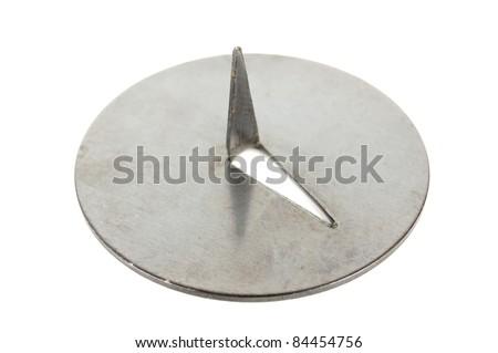 Push Pin Close-up Isolated on White Background - stock photo