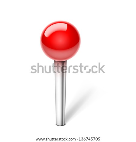 Push Pin Icon isolated on white background. See also vector version - stock photo
