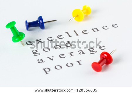 Push pin mark on excellence of audit checklist - stock photo