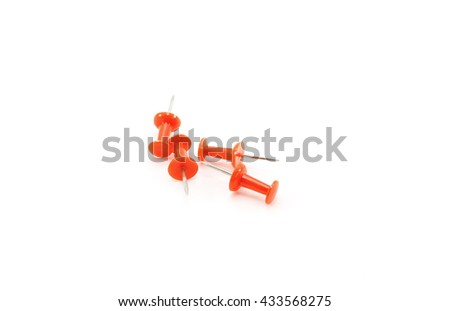 Push Pin on a white background