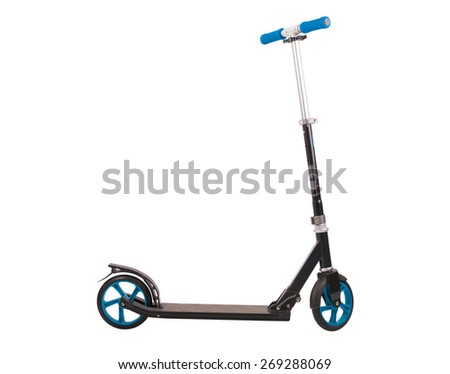 Push scooter isolated on white background. Accurate clipping PATH included - stock photo