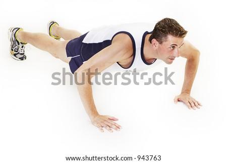 Push ups - stock photo