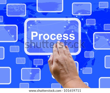 Pushing A Process Button Representing Controlling A System