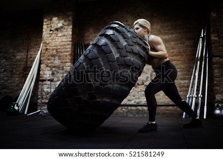 Pushing tire