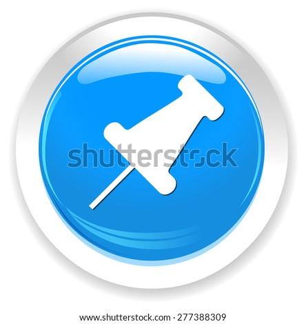 Pushpin icon - stock photo