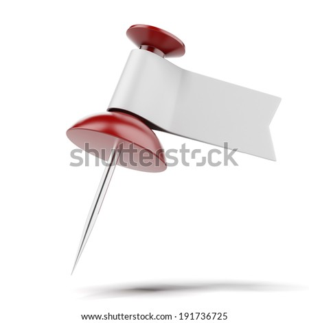 pushpin with label - stock photo