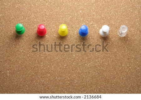 pushpins, you can choosing color you need