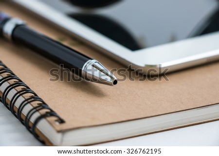 Put a pen on notebook beside tablet. Stop to work close and shutdown everything.