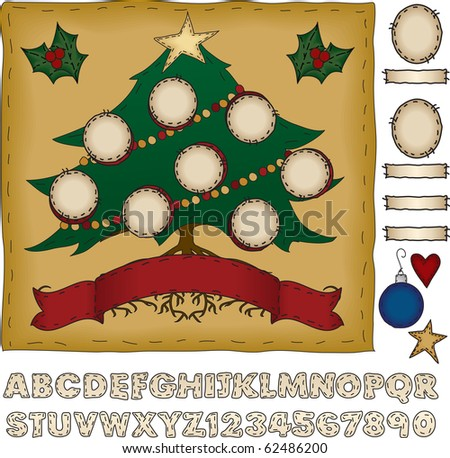 Put holiday spin on your family tree - stock photo