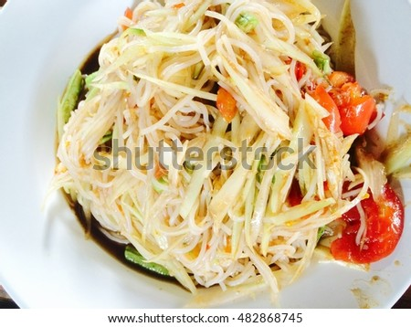 Put noodles salad.Put noodles salad.Put noodles salad