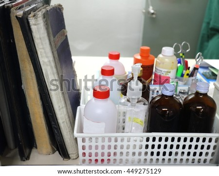 Put the detergent alcohols. medical solutions,liquid medicine