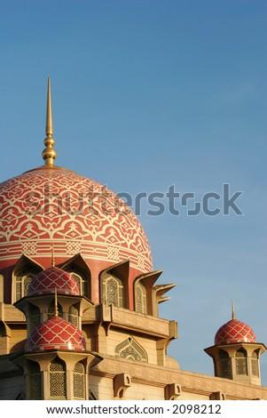 Putra Mosque in Putrajaya, Malaysia. - stock photo