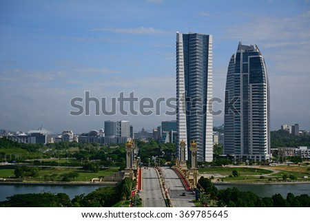 PUTRAJAYA - JANUARY 25 : View of the city on 25 January 2016 at Putrajaya, Malaysia. Putrajaya is a youn city built specifically as the new proposed capital city of Malaysia.