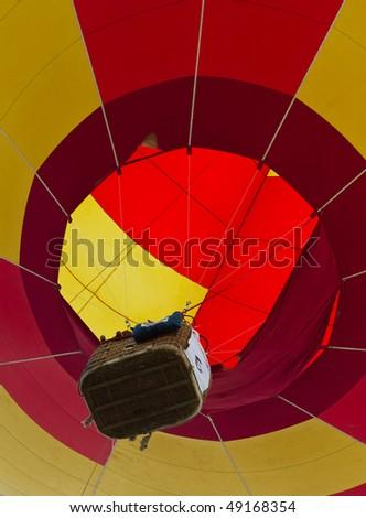 PUTRAJAYA, MALAYSIA - MAR 21 :Hot air balloon  flies during 2nd Putrajaya International Hot Air Balloon Fiesta March 21, 2010 in Putrajaya, Malaysia - stock photo