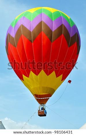 PUTRAJAYA, MALAYSIA-MAR 17:View of colorful balloonon sky at the 4th Putrajaya International Hot Air Balloon Fiesta on Mar 17, 2012 Putrajaya. The event held in Precinct 2, Putrajaya, Malaysia. - stock photo