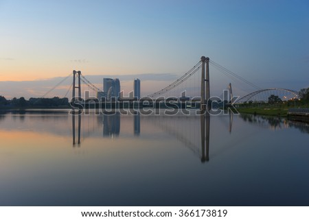 PUTRAJAYA, MALAYSIA - 10TH JANUARY 2016; Morning view in Putrajaya, a well planned city, 25 km south of Kuala Lumpur, that serves as the federal administrative centre of Malaysia.