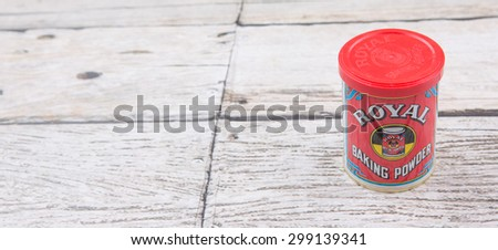 PUTRAJAYA, MALAYSIA - 31TH MAY 2015. Royal Baking Powder is a product brand produce by Mondelez international Inc, an American multinational confectionery, food and beverage conglomerate. - stock photo