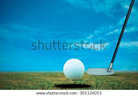 Putt golf bal - stock photo