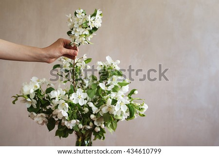 Putting a twig into bunch