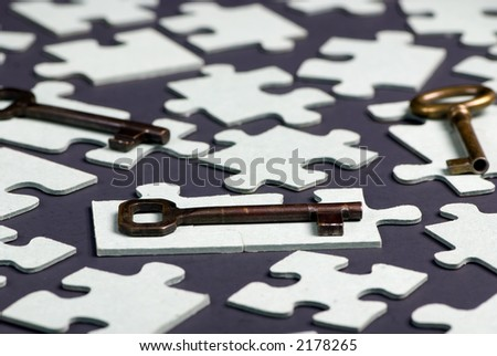 Putting all the pieces together is the key to success - stock photo