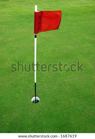Putting green on a golfcourse - stock photo