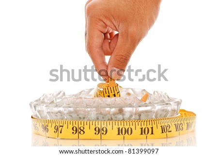Putting On Weight From Quitting the Habit - stock photo