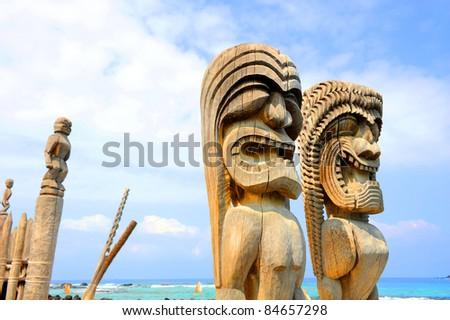 Puuhonua o Honaunau National Historical Park, Big Island, Hawaii - stock photo