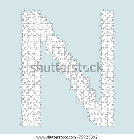 Puzzle alphabet letter for design