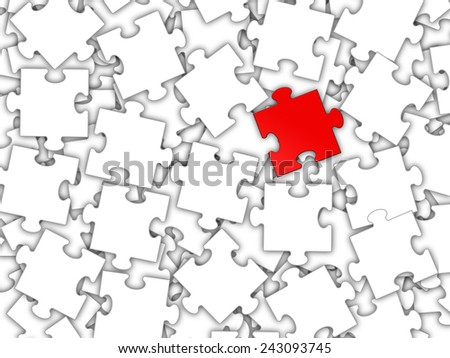 Puzzle and teamwork - stock photo