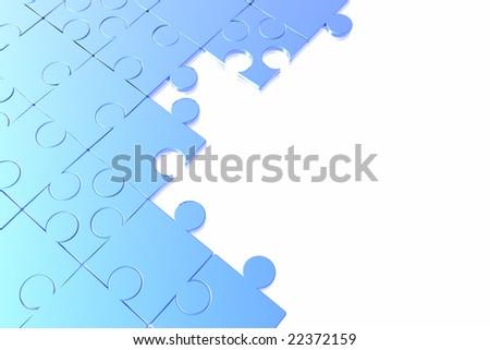 puzzle background - stock photo