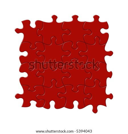 Puzzle background without edge pieces. Easy to change colour with hue/saturation slider and to overlay graphics - stock photo