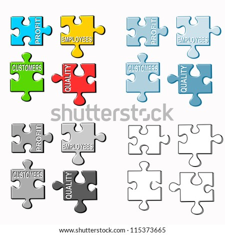Puzzle business metaphor - stock photo