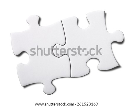 Puzzle  (Clipping path) - stock photo