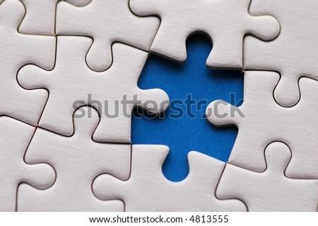 Puzzle close-up - stock photo