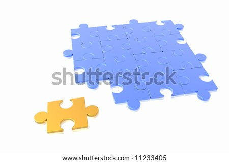 puzzle concept isolated in white background