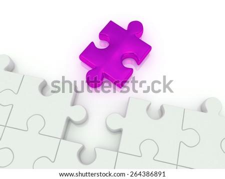 puzzle. 3d - stock photo