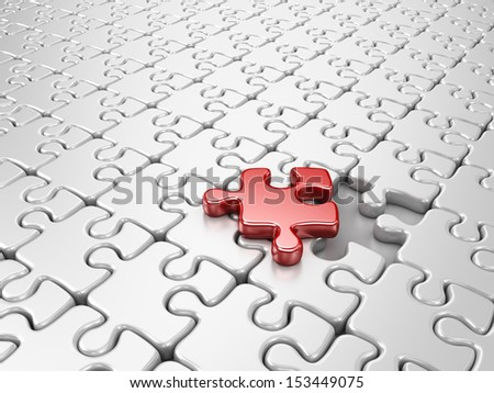 Puzzle 3D. Innovate business concept - stock photo