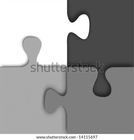 Puzzle Design - stock photo