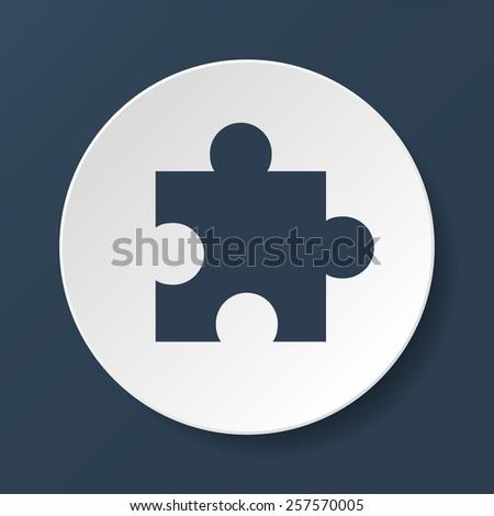 puzzle Flat Icon, isolated on white background. - stock photo