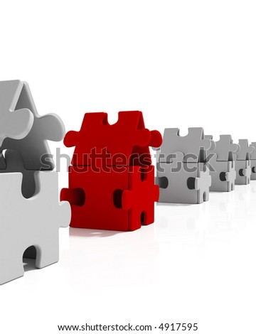 Puzzle Houses - stock photo