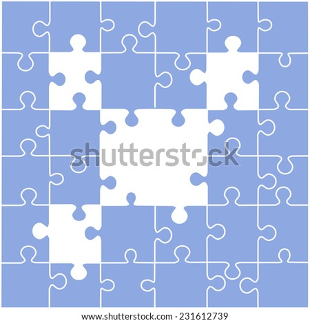 Puzzle illustration with blank spaces