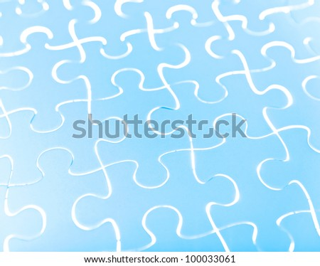 Puzzle in blue - stock photo