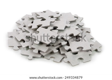 Puzzle isolated on white background - stock photo