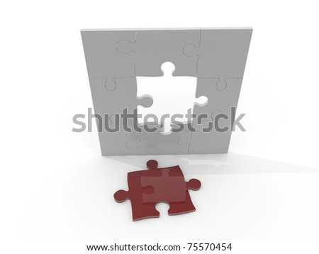 puzzle isolated on white background