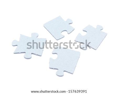 puzzle on a white background - stock photo