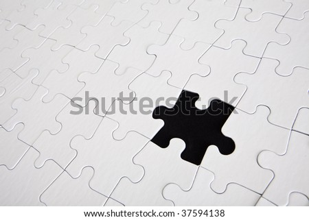 Puzzle one black piece missing