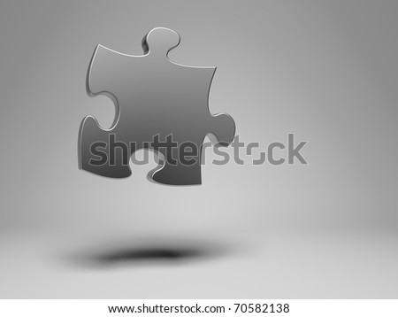 Puzzle piece composition - stock photo