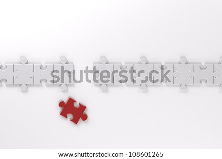Puzzle Pieces - stock photo