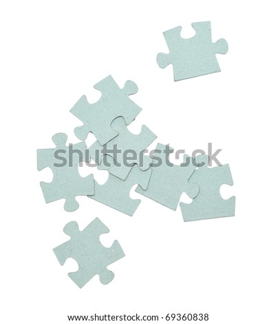 puzzle pieces isolated on white background
