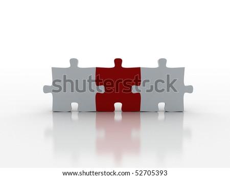 Puzzle pieces - The important part - stock photo